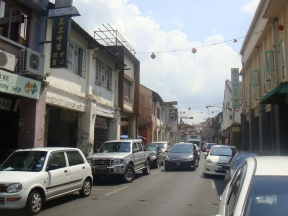 Kuching - Old Carpenter St leading to Bishopgate St where you find the best 'kolo mee'