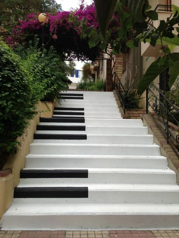 Piano Stairs in Pragrati, Athens